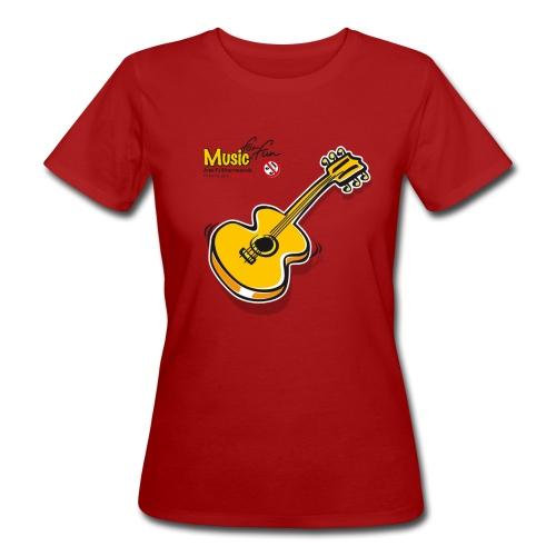 MusicForFun - heller Hintergrund - Frauen Bio-T-Shirt