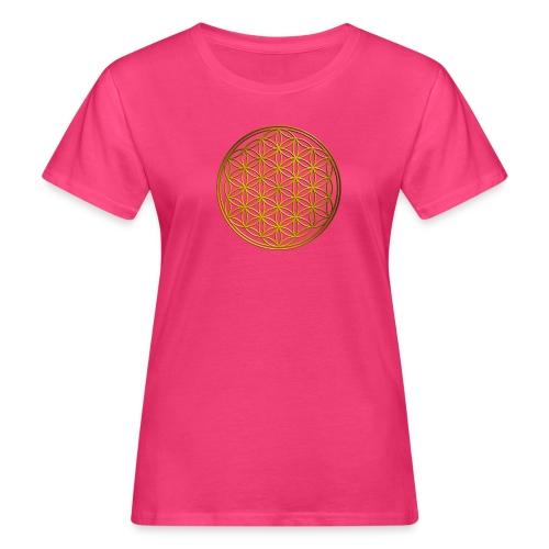 Flower of life GOLD - Vrouwen Bio-T-shirt
