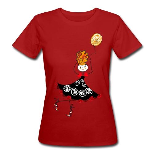 Ballerina con palloncino - T-shirt ecologica da donna