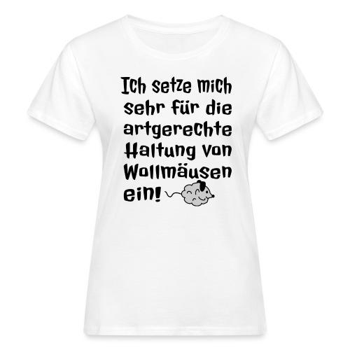 Wollmaus Staub Putzen Haushalt Wohnung Spruch - Frauen Bio-T-Shirt