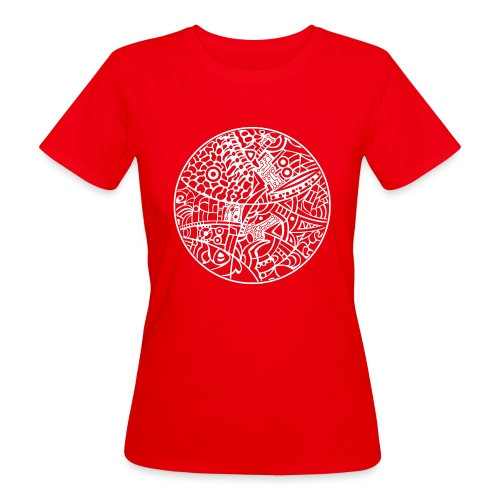 GlobeDesign-red - Organic damer