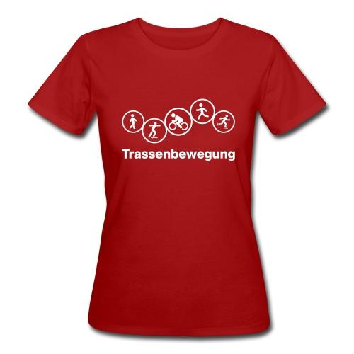 Trassenbewegung eps - Frauen Bio-T-Shirt