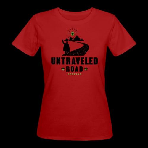 Untraveled Road Logo - black/small - Frauen Bio-T-Shirt