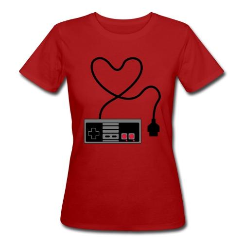 NES Controller Heart - Women's Organic T-Shirt