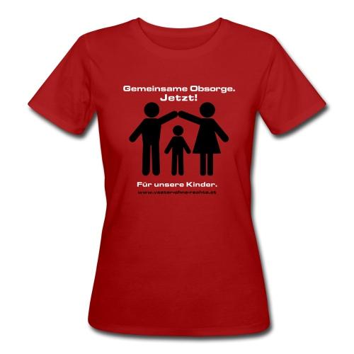 Gemeinsame Obsorge für färbigen Stoff - Frauen Bio-T-Shirt