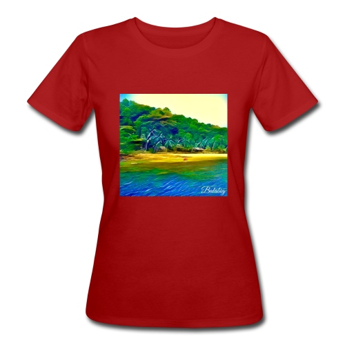 Tropical beach - T-shirt ecologica da donna