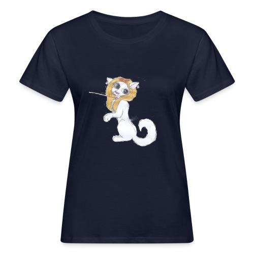 Comic Katze - Frauen Bio-T-Shirt
