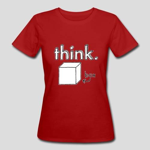 Think Outside The Box Illustration - Women's Organic T-Shirt