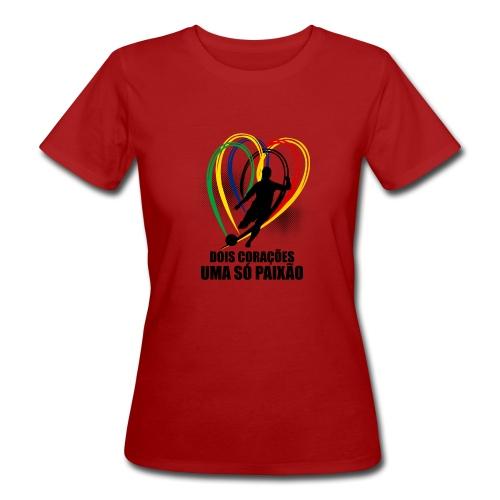 Fußball-Shirt Brasilien - Deutschland - Frauen Bio-T-Shirt