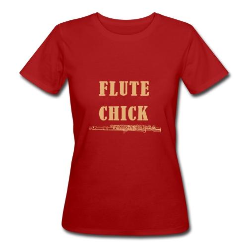 Flute Chick - Økologisk T-skjorte for kvinner