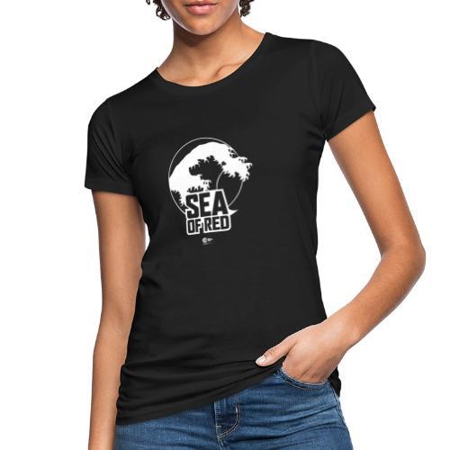 Sea of red logo - white - Women's Organic T-Shirt