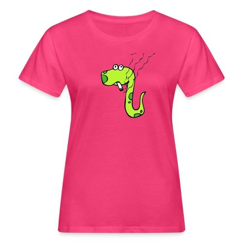 smoking snake - Vrouwen Bio-T-shirt