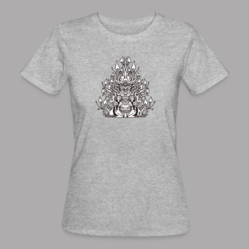 Shroomy man black - Women's Organic T-Shirt