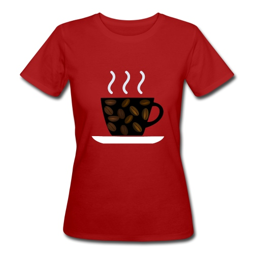 cofee with beans - T-shirt ecologica da donna
