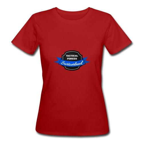 TFS Ruban noir et bleu - T-shirt bio Femme