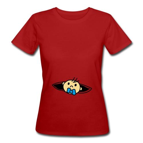 Wir bekommen ein Baby Lade Baby Design T-Shirt - Frauen Bio-T-Shirt
