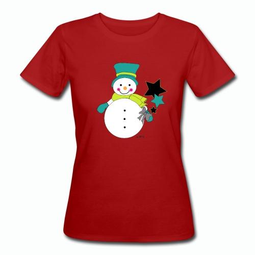 Snowtime-Green - Frauen Bio-T-Shirt