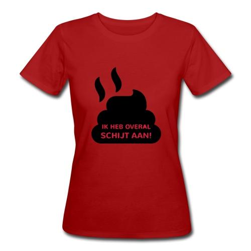 Grappige Rompertjes: Ik heb overal schijt aan - Vrouwen Bio-T-shirt