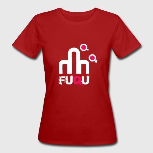 T-shirt FUQU logo colore bianco - T-shirt ecologica da donna