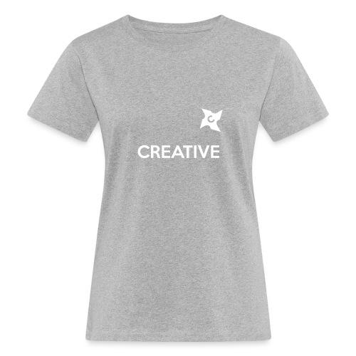 Creative simple black and white shirt - Organic damer