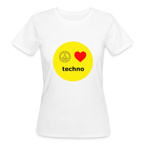 paz amor techno - Camiseta ecológica mujer