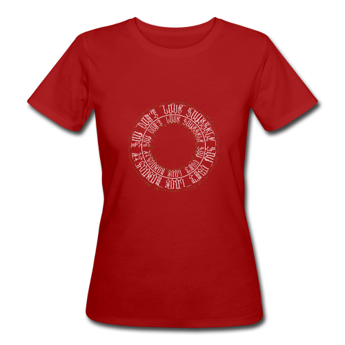 calligrafia white gold - T-shirt ecologica da donna