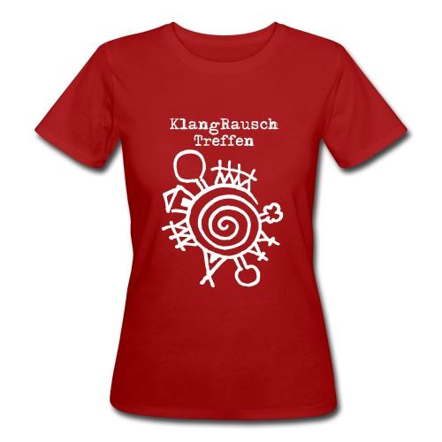 KlangRauschTreffen Logo mit Schrift - Frauen Bio-T-Shirt