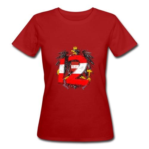 Österreich-Adler 12. Mann rot-weiß-rot - Frauen Bio-T-Shirt