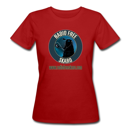 Radio Free Skaro Logo 2011 navy png - Women's Organic T-Shirt