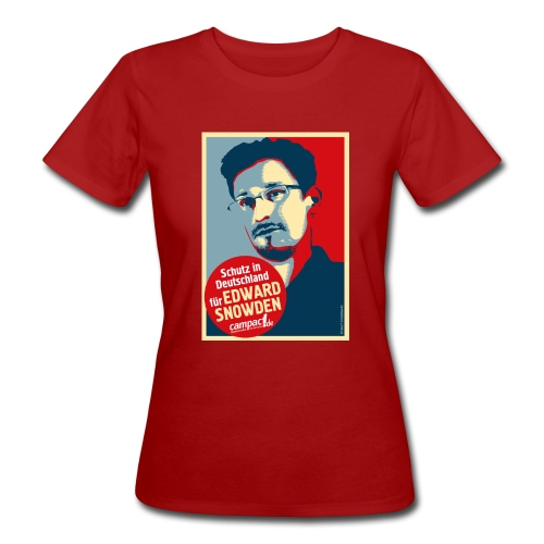 Motiv Snowden Obama SPREADSHIRT 01 jpg - Frauen Bio-T-Shirt
