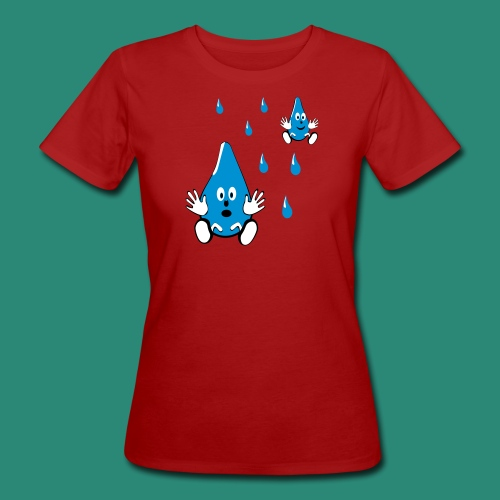 Tropfen - Frauen Bio-T-Shirt