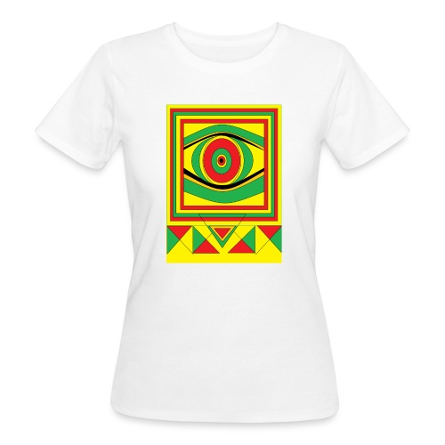ALL seeing eye RASTA burn down babylon Original - Vrouwen Bio-T-shirt