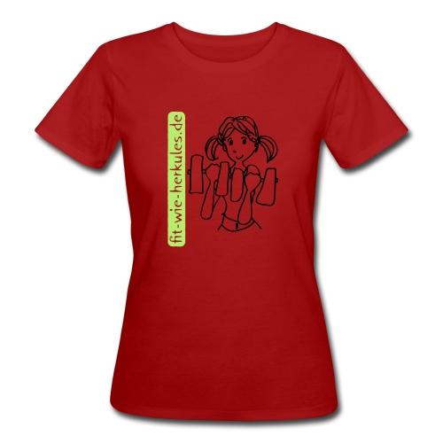 fitwieherkules.de Logo-Shirt - Frauen Bio-T-Shirt