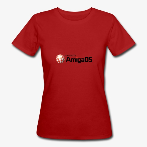 PoweredByAmigaOS Black - Women's Organic T-Shirt