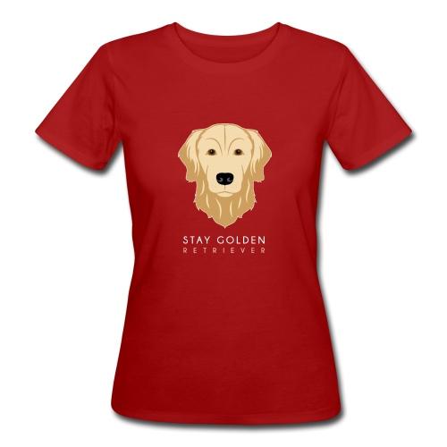 Golden Retriever - T-shirt ecologica da donna
