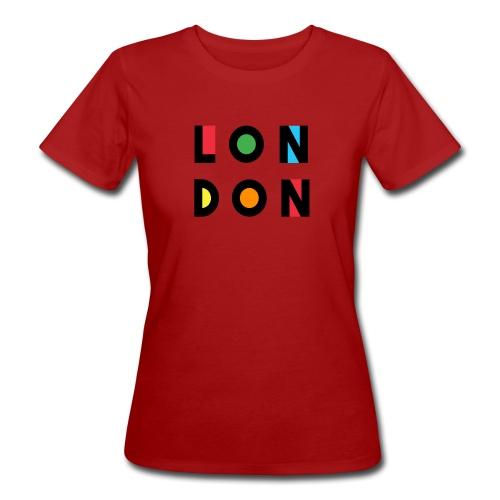 Vintage London Souvenir - Retro Modern Art London - Frauen Bio-T-Shirt