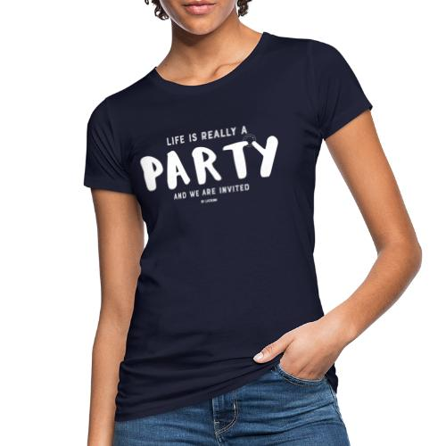 Party white - Women's Organic T-Shirt