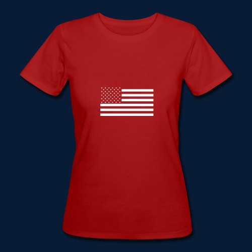 Stars and Stripes White - Frauen Bio-T-Shirt