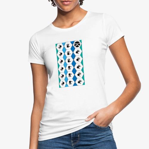 |K·CLOTHES| HEXAGON ESSENCE BLUES & WHITE - Camiseta ecológica mujer