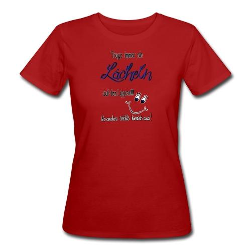 Lächeln - Frauen Bio-T-Shirt