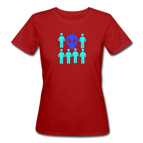 Extraterestre y Humano - Camiseta ecológica mujer