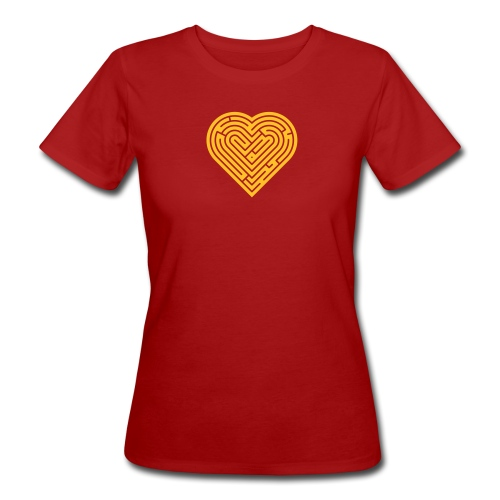 Labyrinth Heart - Women's Organic T-Shirt