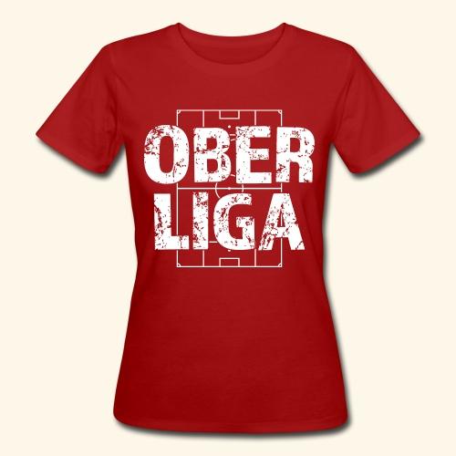 OBERLIGA im Fußballfeld - Frauen Bio-T-Shirt