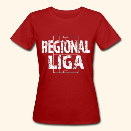 REGIONALLIGA im Fußballfeld - Frauen Bio-T-Shirt