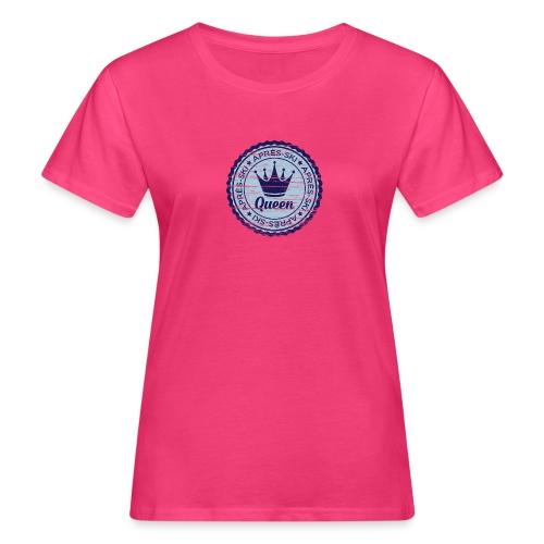 Apresski Queen Grunged Badge Shirt - Frauen Bio-T-Shirt