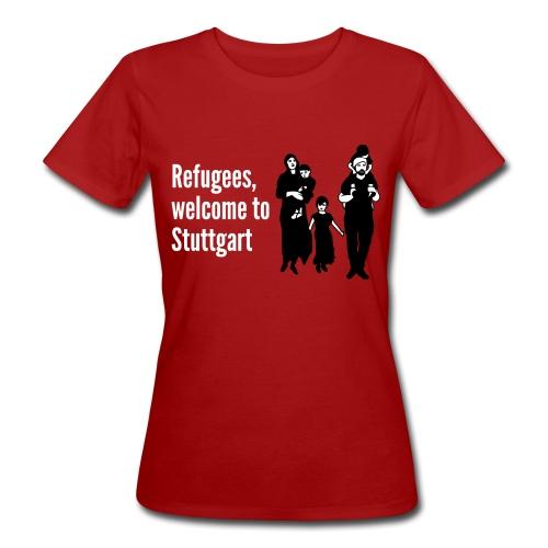 Refugees welcome - Frauen Bio-T-Shirt