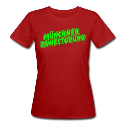 schrift lila - Frauen Bio-T-Shirt