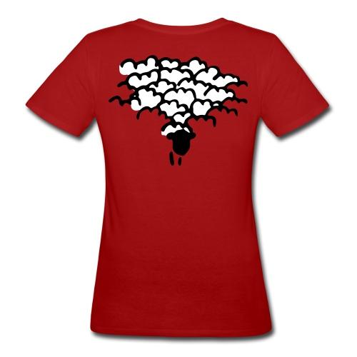 Schafherde 2 farbig - Frauen Bio-T-Shirt