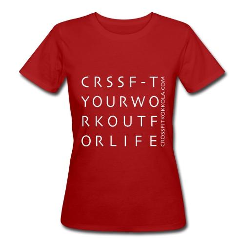 tekstipainatus valk png png - Naisten luonnonmukainen t-paita