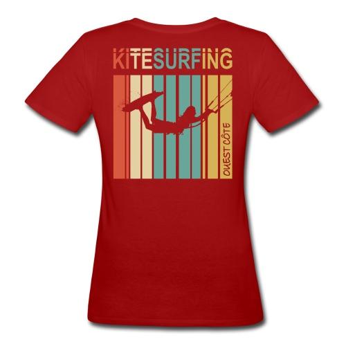 Kitesurfing Ouest Côte - T-shirt bio Femme